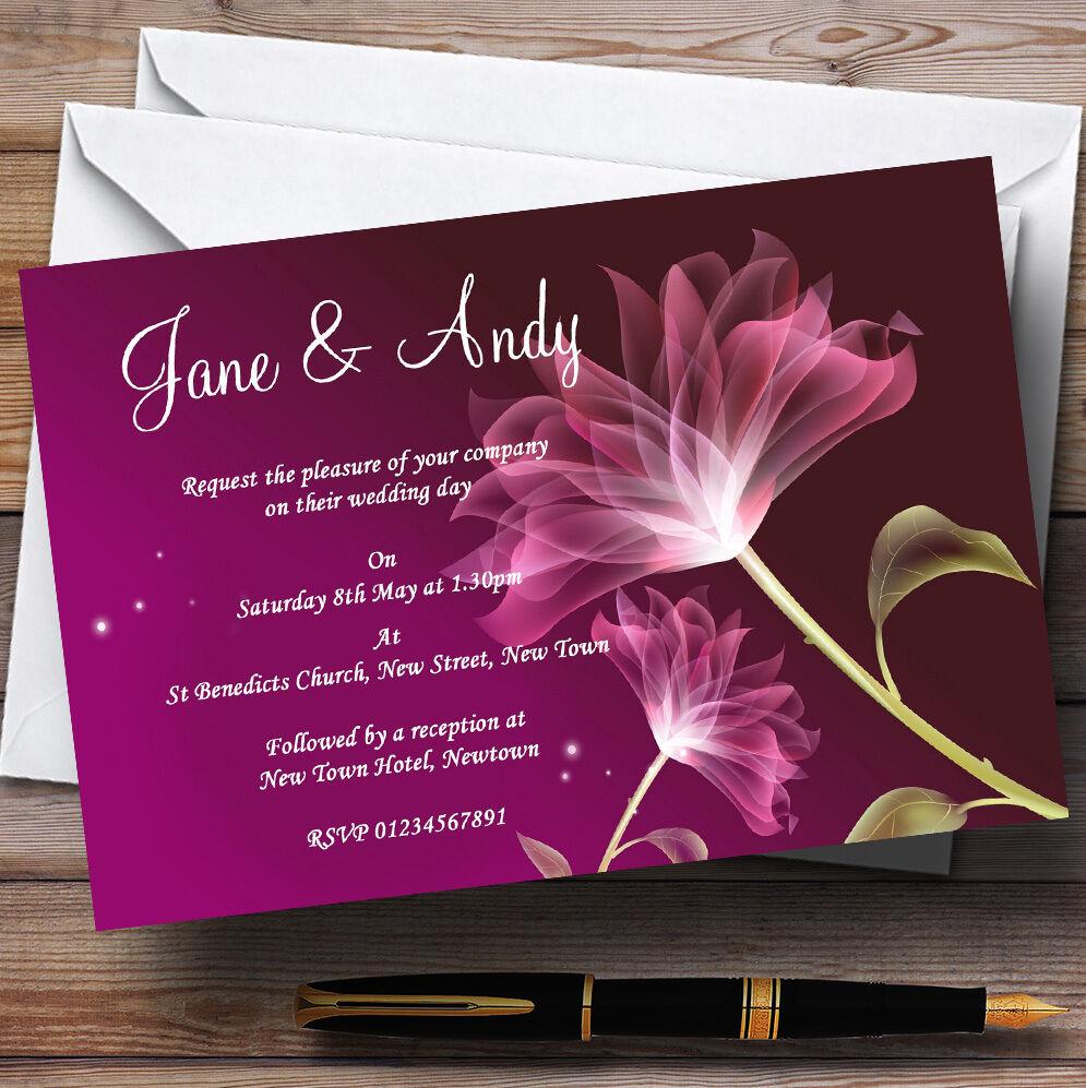 Ligne de joie de Noël (Nouvel An), cadeau d'or d'or cadeau grande livraison Fleur pourpre superbe mariage invitations personnalisées 736ad3