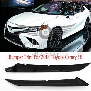 Bumper Trim Molding For 2018 Toyota Camry SE Front Driver & Passenger Side Upper