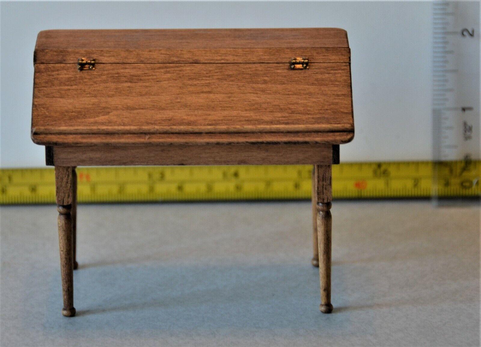 Artisan CJ's Flip top Desk Signed 1 12 Handmade 2001 voitureolyn Wilson & Jean Byer