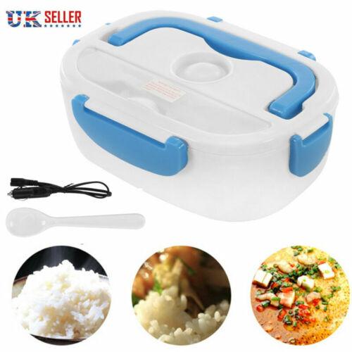 Portable Electric Heating Lunch Box Lunchbox Travel keep Food Warmer 12V w//Spoon