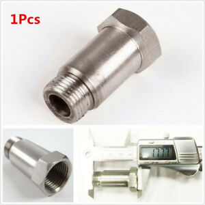 M18x1.5 Stainless Steel O2 Oxygen Sensor Bung Adapter Extension Extender For Car