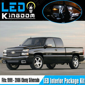 Details About 18PCS For 99 06 Chevy Silverado Car Interior LED Light  Package Kit White Bulbs