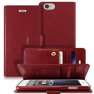 iPhone-8-7-6-S-Plus-5-SE-Genuine-Mercury-Leather-Card-Flip-Wallet-Gel-Case-Cover