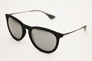 865804fc4af98 Ray-Ban RB 4171 Erika sunglasses 6075 6G Velvet Black Gray Silver ...