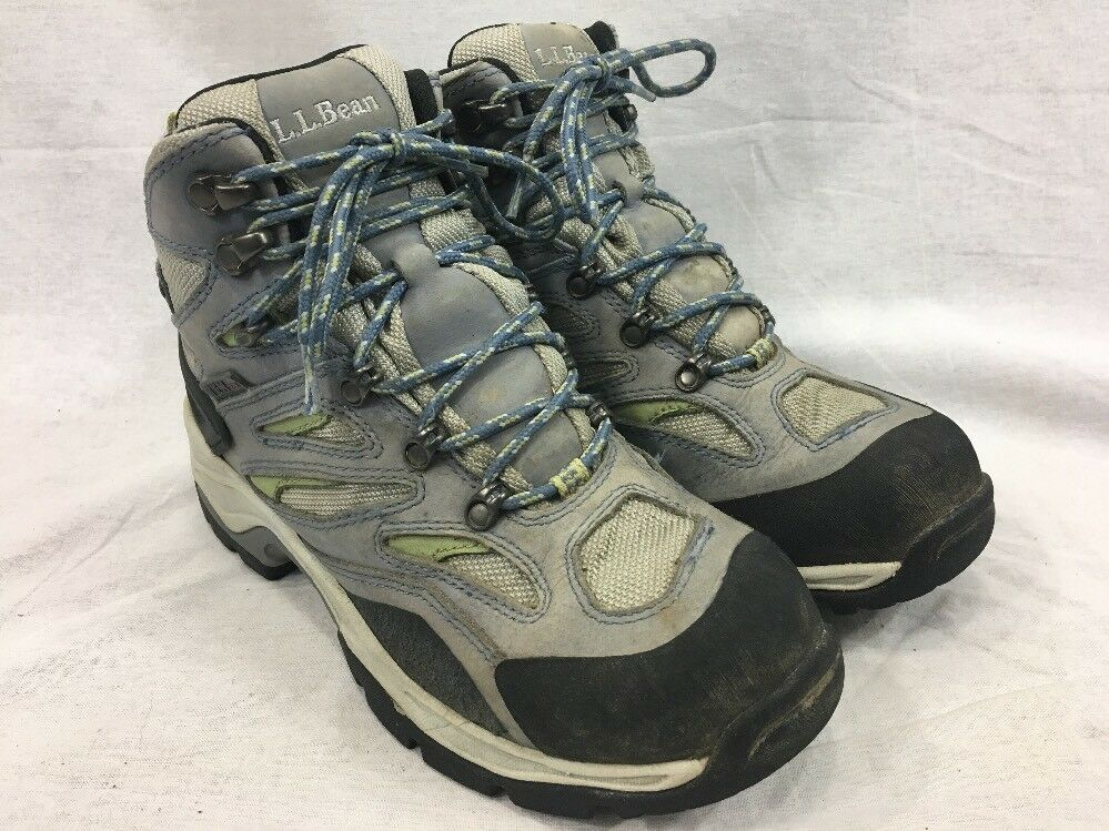 LL Bean Tek 2.5 Hiking Trail Boots Womens 8 Dri-Lex Hi-Top Lace Up Waterproof