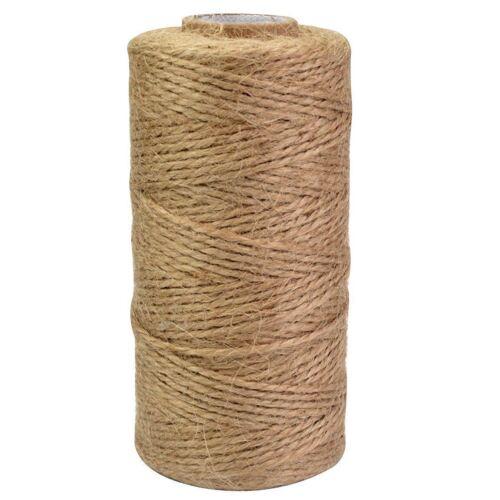 120M Natural Jute Twine Roll DIY Wrap Gift Hemp Rope Cord String Roll