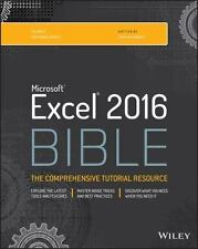 Bible: Excel 2016 Bible by John Walkenbach (2015, Paperback / Online Resource)