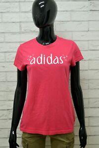 Maglia-ADIDAS-Donna-Taglia-Size-S-Maglietta-Shirt-Woman-Cotone-Manica-Corta-Slim