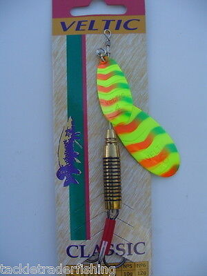 LURE FOR PIKE AND ALL PREDATORY FISH VELTIC FISHING TANDEM SPINNER RED GOLD