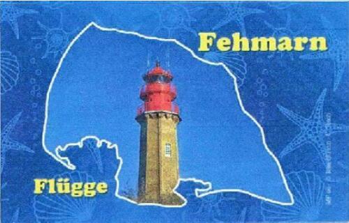Fehmarn Ostsee Leuchtturm Flügge Germany Foto Magnet Reise Souvenir,Neu