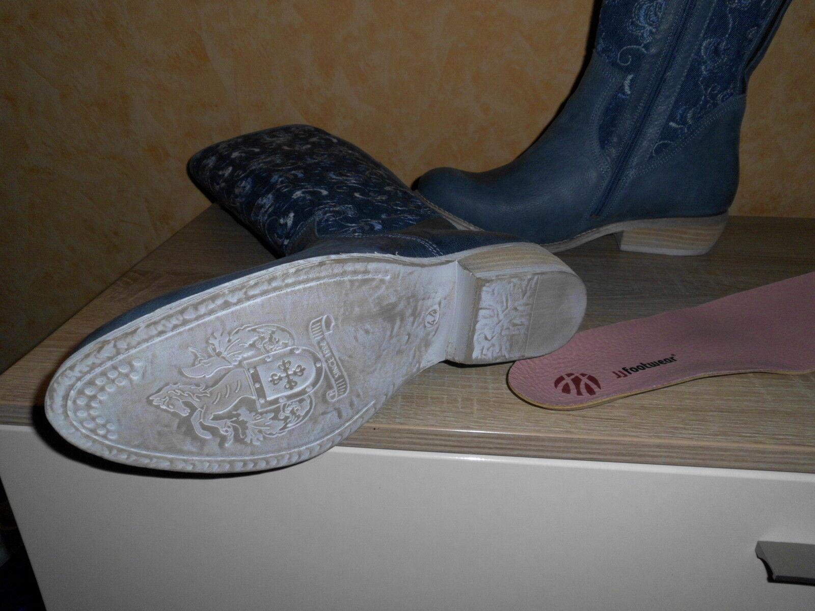 JJ Footwear Gr. XXL Weitschaft Stiefel Alexandria in kobaltblau NEU Gr. Footwear 44 JJFW chic c7543f