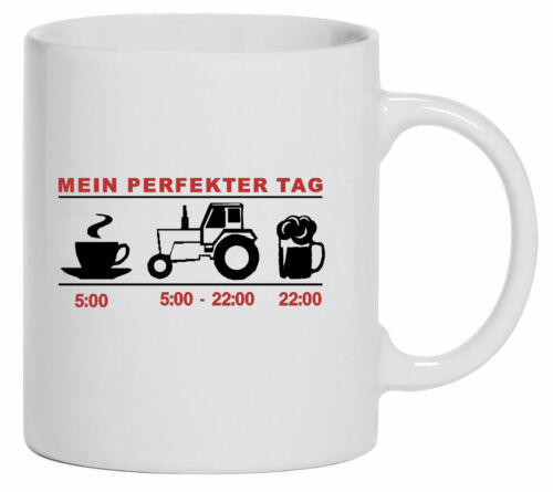 TasseKaffebecherMein perfekter TagTraktorSchlepperBulldog  1017-T