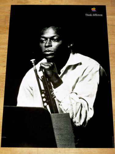 Apple Think Different Poster Miles Davis //24 x 36 Steve Jobs 35 13//16in x 24in