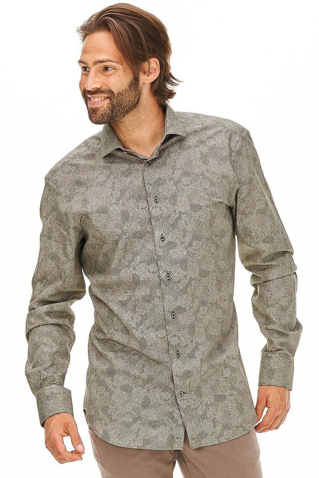 Cavallaro Napoli - Hemd Spito Herre camouflage Designer Neu