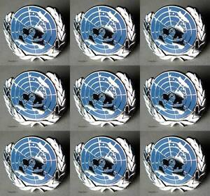 U-N-UN-United-Nations-Peacekeeping-Silver-Plated-Lapel-Pin-Lot-Of-9