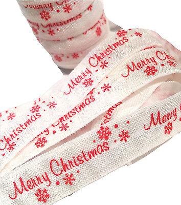 "LOT 50 YARDS CHRISTMAS foe fold over elastic 5//8/"" 5 yards per design"