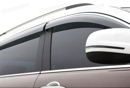 Front /& Rear Side Window Visor Deflectors Vent Shade for Honda CR-V 2012-2014