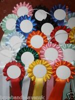 5 x Print your own Mini Blank Rosettes. Mixed Colours.White 50mm Centres.