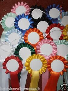 3 x 1 tier Rosettes Red//White//Blue Blank 50mm centres