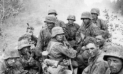 WWII B&W Photo German Soldiers in Truck  WW2 World War Two Wehrmacht / 2161