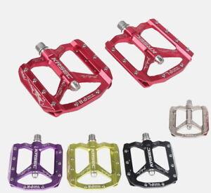 KRSEC-Aluminum-Mountain-Road-XC-AM-Bike-Bearings-Pedals-flat-Bicycle-Pedal