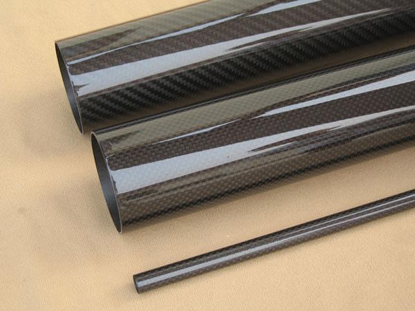 2pcs OD 44mm x ID 42mm x Length 500mm 3K Carbon Fiber Tube (Roll Wrapped) pipe