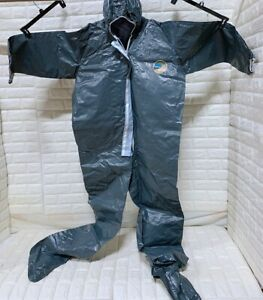 Lakeland 51155 Protective Suit PPE coverall expanded back Hood And Boots