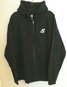 SNAP-ON-Logo-Mens-XL-Full-Zip-Hoodie-Hood-Graphic-Sweatshirt-Black-NWOT-Zipper