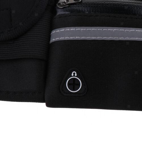 Laufgürtel Lauftasche Running Belt Gürteltasche mit Reißverschluss Schwarz