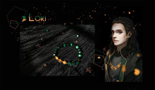 Details about  /Marvel Superhero Handmad Loki Thor mini-snake Bracelet Chain Daily Original