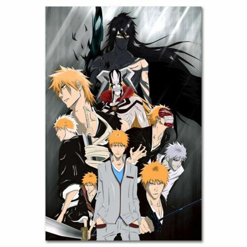19K Bleach Hot Japan Anime Kurosaki Ichig 4 Print Art Silk Poster