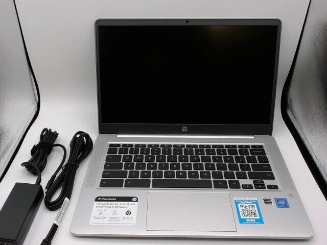 HP ChromeBook 14 32GB Intel Celeron N 1.10GHz Laptop Mineral Silver 9LL49UAABA