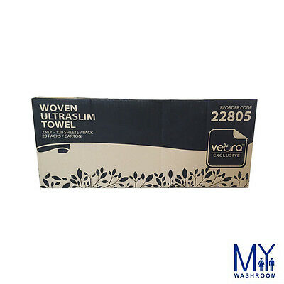 / Pack 20 Packs Traslim Towels 2ply 120 Shts 24cm X2 4cm Ctn To Suit The PeopleS Convenience
