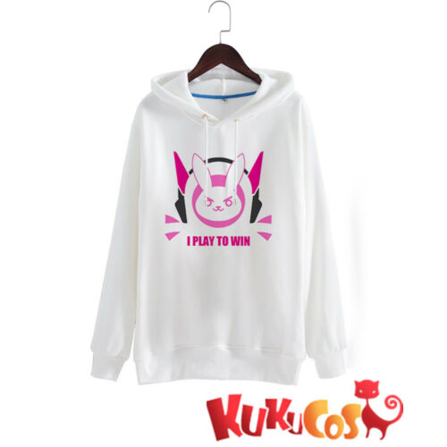 Kukucos Anime Overwatch DVA Hoodie Pullover Sweatshirt Cosplay Coat Size L