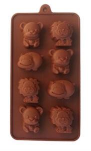 Löwe Teddy 20,8 x 11,3cm Nilpferd * Silikonform /& Seifenform /& Fondantform ca