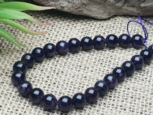 Naturelle amethyst perles environ Balle 8 mm Strang 20 cm Violet Gemme