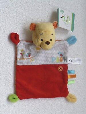 Disney Baby Winnie Puuh Pooh Schmusetuch Kuscheltuch 24cm Neu