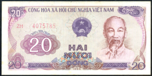 20   DONG   1985 VIETNAM P 94  about Uncirculated Banknotes