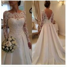 2017 NEW White/Ivory Wedding Dress Bridal Dress Gown size 6 8 10 12 14 16 18 BFH