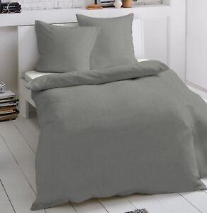 2 Tlg Jersey Bettwäsche 135x200 Cm Grau Feine Mako Baumwolle