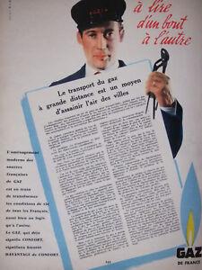PUBLICITE-DE-PRESSE-1958-GDF-TRANSPORT-DU-GAZ-DE-FRANCE-ADVERTISING
