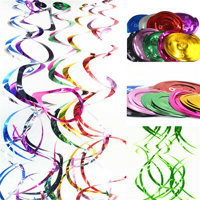 5pcs Ceiling Hanging Decorative Swirls Party Decoration Colourful Metallic Sense