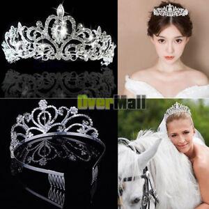 Rhinestone Kids Girl Crystal Tiara Hair Band Bridal Princess Prom ... 9576e1230e1a
