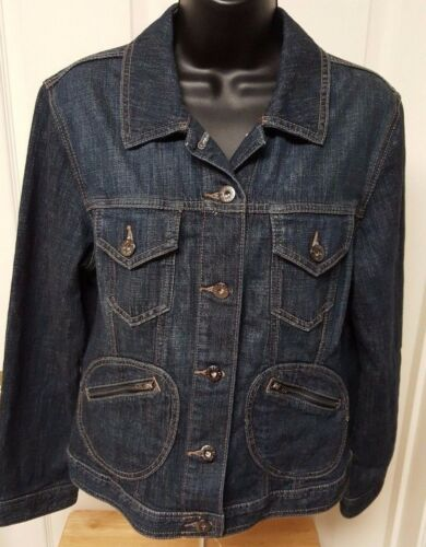 Jean Størrelse 1 Womens Chico's Jacket Blue Platinum m Frakke PxwYqtzA