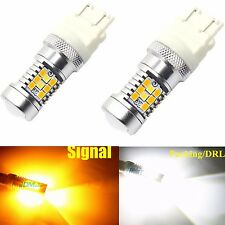 JDM ASTAR 2x 3157 PX 28-SMD LED Switchback White Yellow Ford Turn Signal Lights
