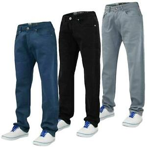 Mens-Slim-Fit-Pantalones-Pantalones-Vaqueros-Crosshatch-Stretch-Denim-Cintura-Tallas-30-38