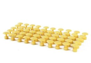 Paintless Dent Repair Glue Pulling Tools 50pcs Yellow Spiral Tabs 34mm