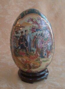DSC/_00330 Antique Chinese Porelain satsuma Egg witout the Stand