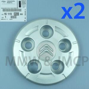 "Wheel Trim Hub Centre Cap Hubcap 16"" CITROEN JUMPER 2006- GENUINE 1611985380 x 2"