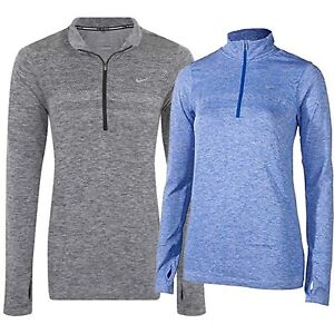 eb4af271d Details about NIKE Dri-Fit Knit Half Zip Women's Long Sleeve Running Top  (659486)